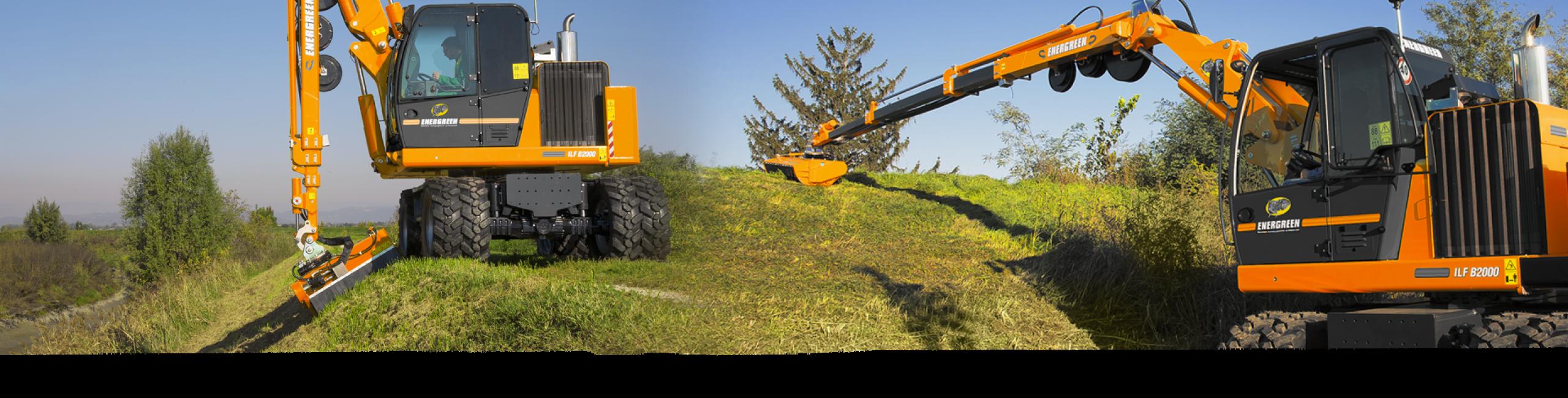 ilf b2000 - ausleger 17 m - multifunktionalitaet maschinen - die technik fur die profis in der grunpflege