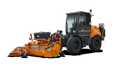 ilf kommunal - kehrmaschine mit sammelschaufel - energreen germany - maschinen für den professionellen einsatz