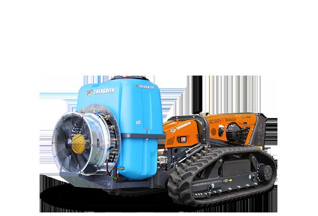 robomax - sprayer - zerstaeuber - energreen germany - die technik für die profis in der grünpflege