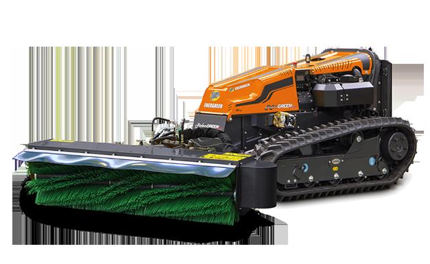 robogreen evo - brush - kehrmaschine - energreen germany - die technik für die profis in der grünpflege