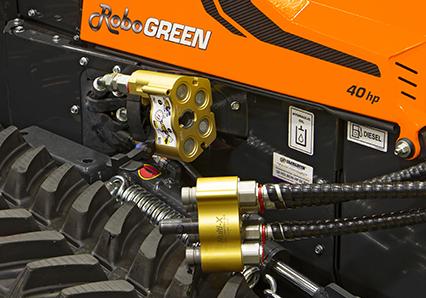 robogreen evo - hydraulische schnellkupplungen cejn - energreen germany - die technik für die profis in der grünpflege