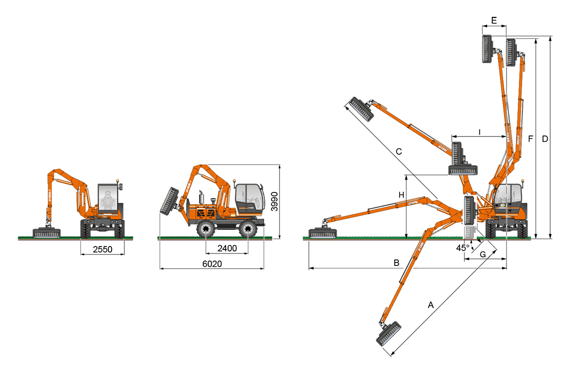 ilf s1500 - geometrie ausleger f - energreen germany - die technik für die profis in der grünpflege