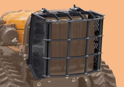 roboevo - kühlerschutz aus stahl - funkferngesteuerter raupenketten mulcher - energreen germany - die technik für die profis in der grünpflege