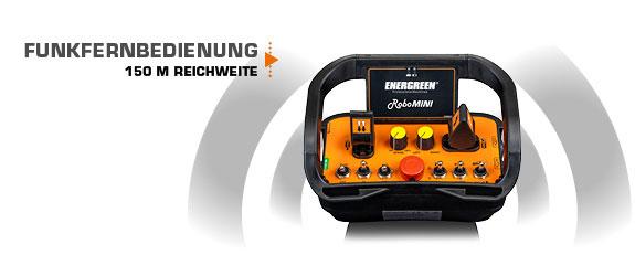 robomini - funkfernbedienung - energreen germany - die technik für die profis in der grünpflege