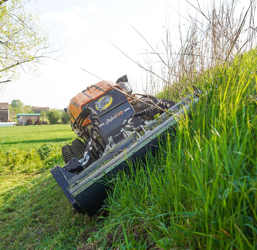 roboevo - head 130 - mulcher - energreen germany - die technik fur die profis in der grunpflege