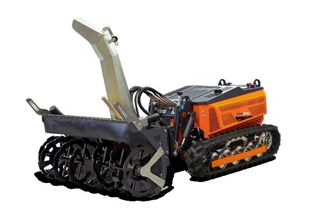 robomini - snow blower - turbo schneefrase - energreen germany - die technik für die profis in der grünpflege